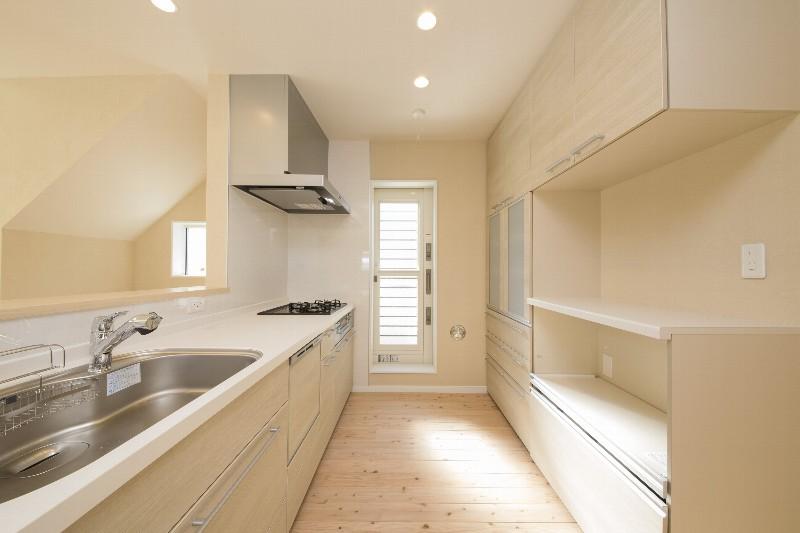 キッチン。十分な広さと収納力があります