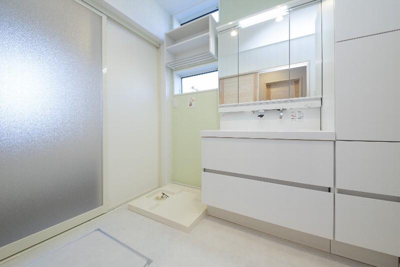 清潔感のある洗面脱衣場