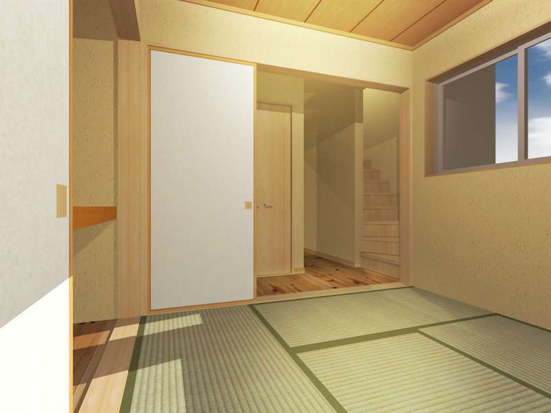 2F和室(部屋奥から)