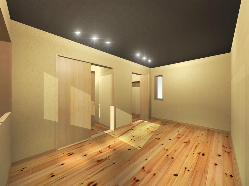 1F究極の寝室(部屋右奥から)
