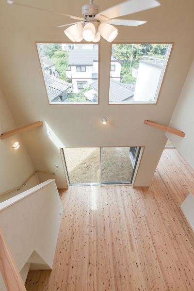 2F廊下(階下への眺め)