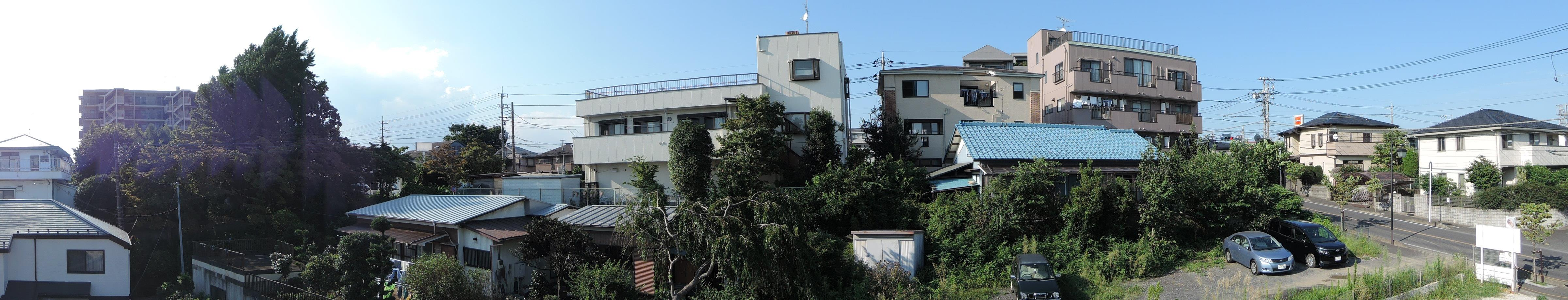 2F西側バルコニー(北側の眺め)