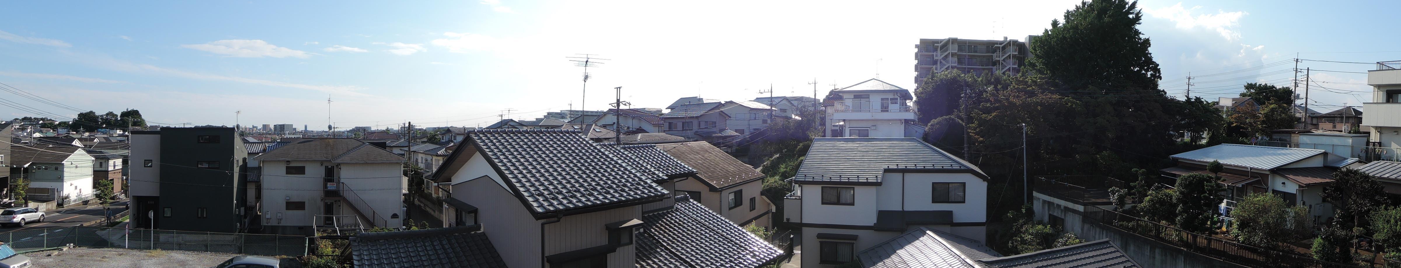 2F西側バルコニー(南側の眺め)