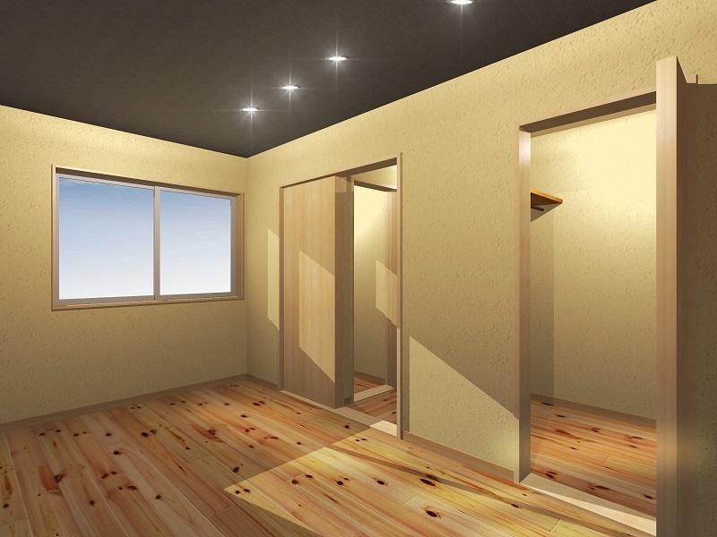 1F究極の寝室(部屋左奥から)